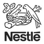 Logotipo de Nestle en blanco y negro