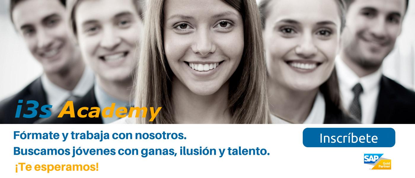 Inscríbete en i3s Academy y trabaja con nosotros
